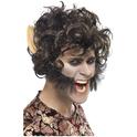 Perruque noire d'homme loup
