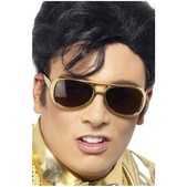 Gafas de sol de Elvis doradas