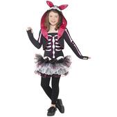 Disfraz de esqueleto de conejito para niña