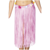 Falda hawaiana rosa claro
