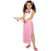 Jupe hawaïenne rose claire pour fille