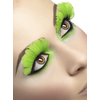 Pestañas con plumas verdes