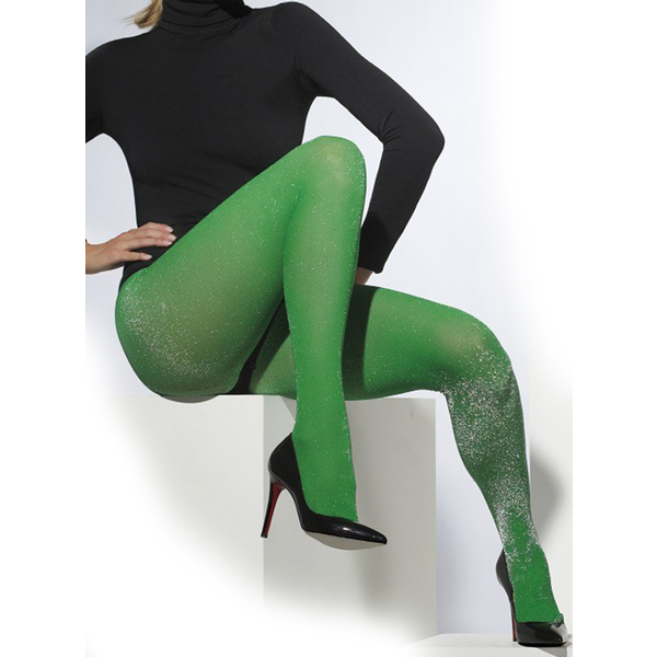 в зелёных колготках фото