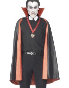 Capa de vampiro reversible negra y roja