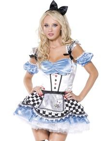 Disfraz de dulce Alicia Fever para mujer