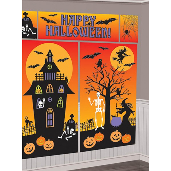 D coration murale happy halloween for Decoration murale halloween