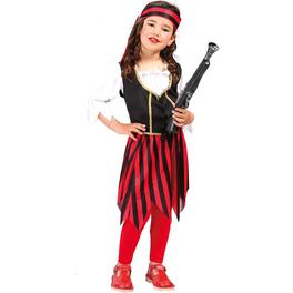 Disfraz de corsaria roja para niña
