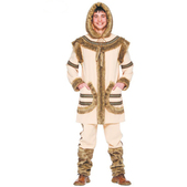 Disfraz de esquimal marrón para hombre