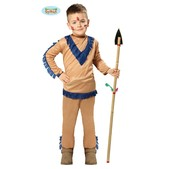 Disfraz de indio marrón para niño
