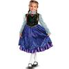 Disfraz de Anna Frozen Prestige para niña