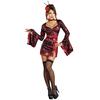 Disfraz de geisha dragón rojo