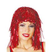 Peluca rojo brillante