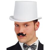 Sombrero chistera blanco