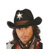 Sombrero de sheriff color negro