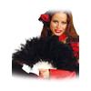 Éventail à plumes noires