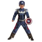 Disfraz de mini Capitán América Soldado de Invierno musculoso para niño