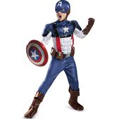 Disfraz de Capitán América Soldado de Invierno retro prestige para niño