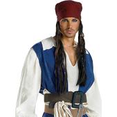Bandana y peluca Jack Sparrow para adulto