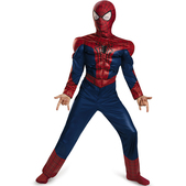 Disfraz The Amazing Spiderman 2 musculoso para niño