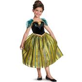 Costume d'Anna Scintillante couronnement deluxe pour fille
