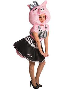 Disfraz de Pig Up para mujer
