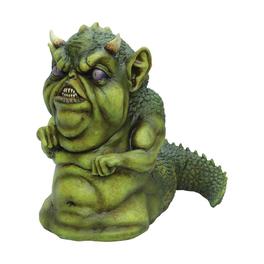 Pequeño monstruo verde Halloween