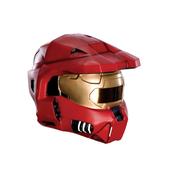 Casco de Spartan Rojo Halo para adulto