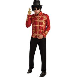 Chaqueta de Michael Jackson Militar roja para adulto