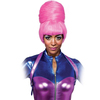 Peluca moño rosa con flequillo Nicki Minaj