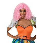 Peluca pelo rizado rosa Nicki Minaj
