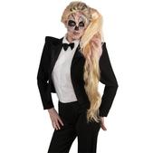 Peluca de coleta de esqueleto Lady Gaga