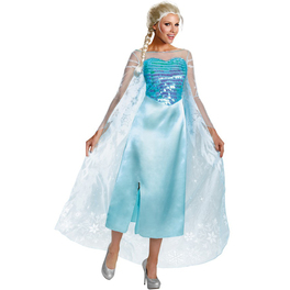 Deluxe Elsa Frozen costume for a woman