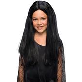 Peluca de Morticia La Familia Addams para niña