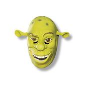 Máscara de Shrek Felices para Siempre de vinilo para adulto