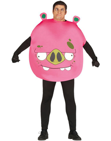Disfraz de Cerdo Angry rosa para adulto