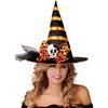 Sombrero de bruja negro con lazo