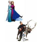 Set of Frozen character mini figures