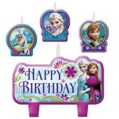 Set of Frozen birthday candles
