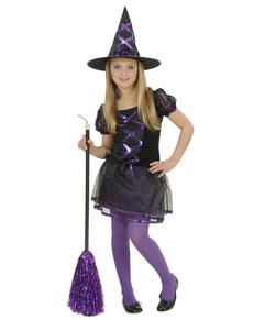 Disfraz de bruja presumida para niña