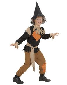 Disfraz de espantapájaros con parches para niño