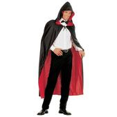Capa reversible con capucha negra y roja