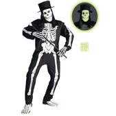 Disfraz de esqueleto chic para hombre