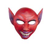 Máscara de diablo con orejas y sonrisa inquietante