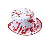Sombrero blanco ensangrentado