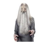 Máscara de viejo sabio de espuma de látex con pelo y barba
