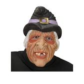 Máscara de bruja media cara