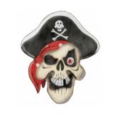 Calavera pirata en chiffón con ojo de piedra