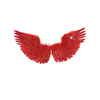 Alas rojas con plumas