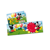 Set de invitaciones Mickey Mouse