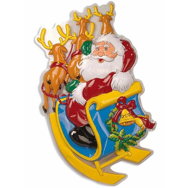 Decoracion De Noel ~ de pared de pap? noel en trineo decoraci?n de pared de pap? noel